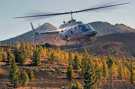 Tour d'helicoptere gran teide luxe