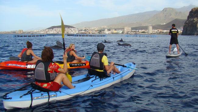 Viendo raffine en kayak et en pagaie