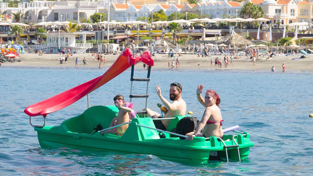 Pedal boat tenerife family