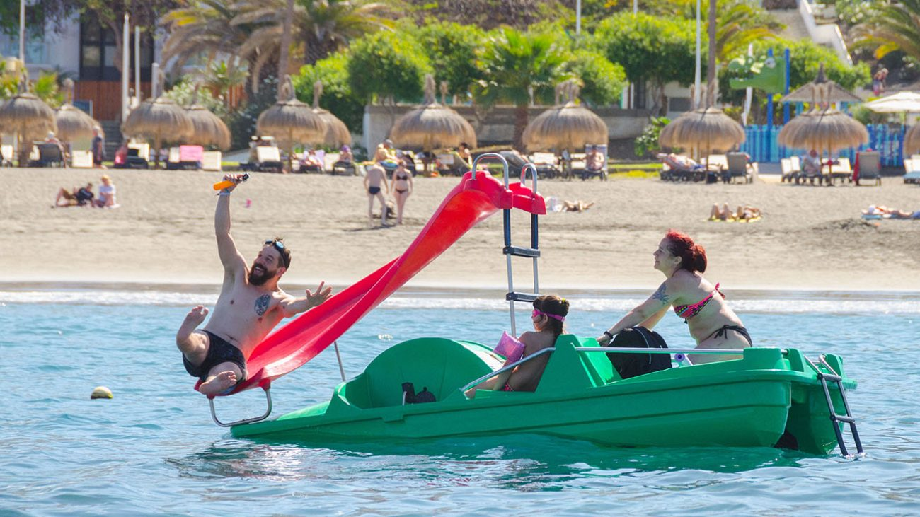 Pedal boat tenerife jumping